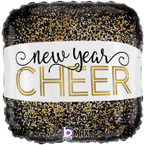 "Metallic New Year Cheer 18"" Foil Balloon"