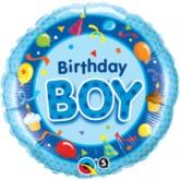 "18"" Blue Birthday Boy Foil Balloon"