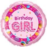 "18"" Pink Birthday Girl Foil Balloon"