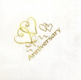 Gold Anniversary White Napkins - 15pk