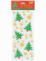 Christmas Tree Cello Bags 20pk