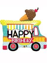 "Happy Birthday Ice Cream Van 36"" Supershape Balloon"