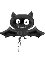 "Happy Halloween Bat 41"" Supershape Foil Balloon"