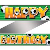 Football Foil Birthday Banner 12ft