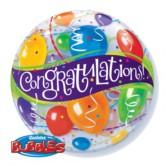 """22"""" Congratulations Bubble Balloon"""