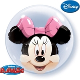 """Minnie Mouse 24"""" Double Bubble Balloon"""