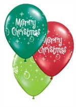 "Merry Christmas Ornaments 11"" Latex Balloons 25pk"