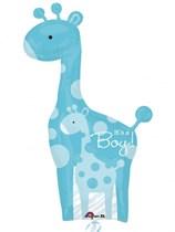 "It's a Boy Giraffe Supershape Foil Balloon 42"""