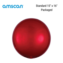 Orbz Red Foil Balloon Packaged