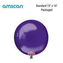 Orbz Purple Foil Balloon Packaged