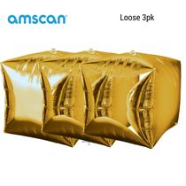 Cubez Gold Balloon 3pk