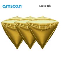 Diamondz Gold Decorative Balloon 3pk