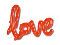 "Love Script 31"" Red Foil Balloon"