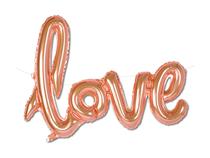 "Love Script 31"" Rose Gold Foil Balloon"