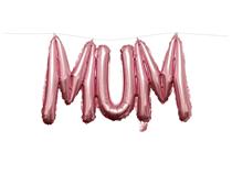 "Mum 15"" Pink Foil Letter Balloon Banner"