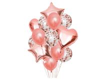 Rose Gold Balloon Bouquet Kit 14pc