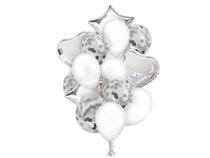 Silver Balloon Bouquet Kit 14pc