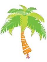 "Palm Tree 33"" Supershape Foil Balloon"