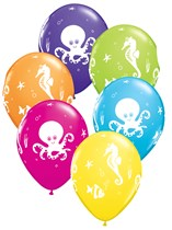 """11"""" Assorted Octopus and Friends Latex Balloons - 25pk"""