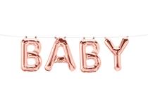 Baby Rose Gold Letter Balloon Banner