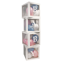 Baby Clear Box Letter Cubes