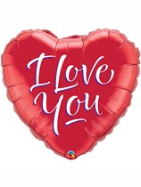 """I Love You Red 18"""" Heart Foil Balloon"""