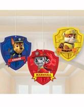 Paw Patrol Hanging Honeycomb Decorations 3pk