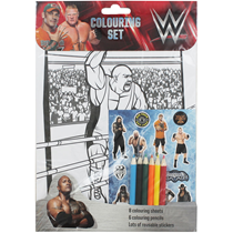 WWE Colouring Set