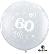 "3ft Diamond Clear ""60"" Latex Balloons - 2pk"