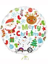 "Merry Christmas Icons 17"" Foil Balloon"