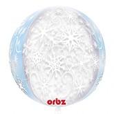 "Orbz Frozen Snowflake 16"" Christmas Foil Balloon"