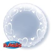 """Stylish Hearts Deco Bubble Balloon 24"""""""