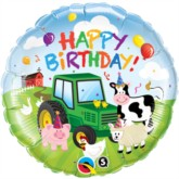"18"" Happy Birthday Farm Animals Foil Balloon"