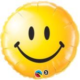 """18"""" Yellow Smiley Face Emoticon Foil Balloon"""