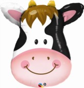 """Contented Cow 32"""" SuperShape Foil Balloon"""