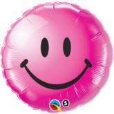 "18"" Pink Smiley Face Foil Balloon"