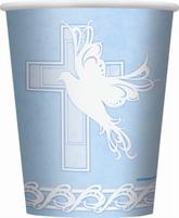 8 Dove Cross Blue 9oz Paper Cups