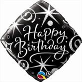 """""""Happy Birthday"""" Sparkles & Swirls 18"""" Foil Balloon"""