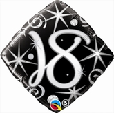 18th Birthday Sparkles & Swirls Diamond Foil Balloon