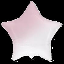 "Pink White Gradient 18"" Foil Star Balloon"