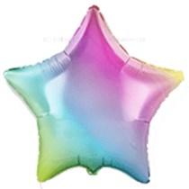 """Rainbow Gradient Pastel 18"""" Star Foil Balloon"""