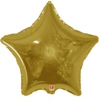 "Gold 18"" Star Shaped Foil Balloon"