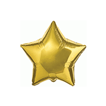 "Gold 9"" Star Shaped Foil Balloon"