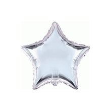"Silver 9"" Star Shaped Foil Balloon"
