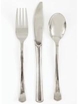 Foil Silver Plastic Cutlery 18pk