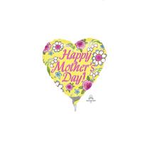 Mother's Day Yellow Mini Foil Balloon