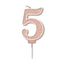 Number 5 Sparkling Fizz Rose Gold Candle