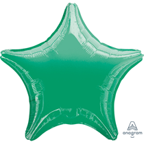 "Metallic Green 18"" Star Foil Balloon"