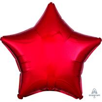 "Metallic Red 18"" Star Foil Balloon"