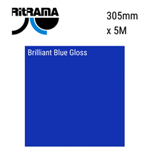 Brilliant Blue Gloss Vinyl 305mm x 5M
